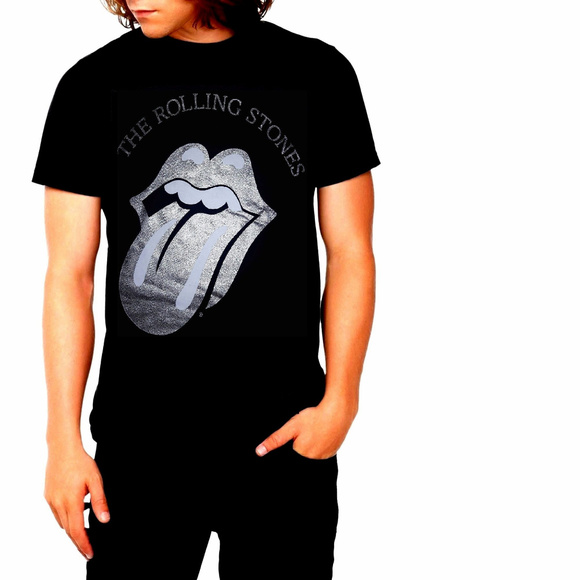 The Rolling Stones Other - Rolling Stones Silver Tongue Logo T-Shirt L XL NWT